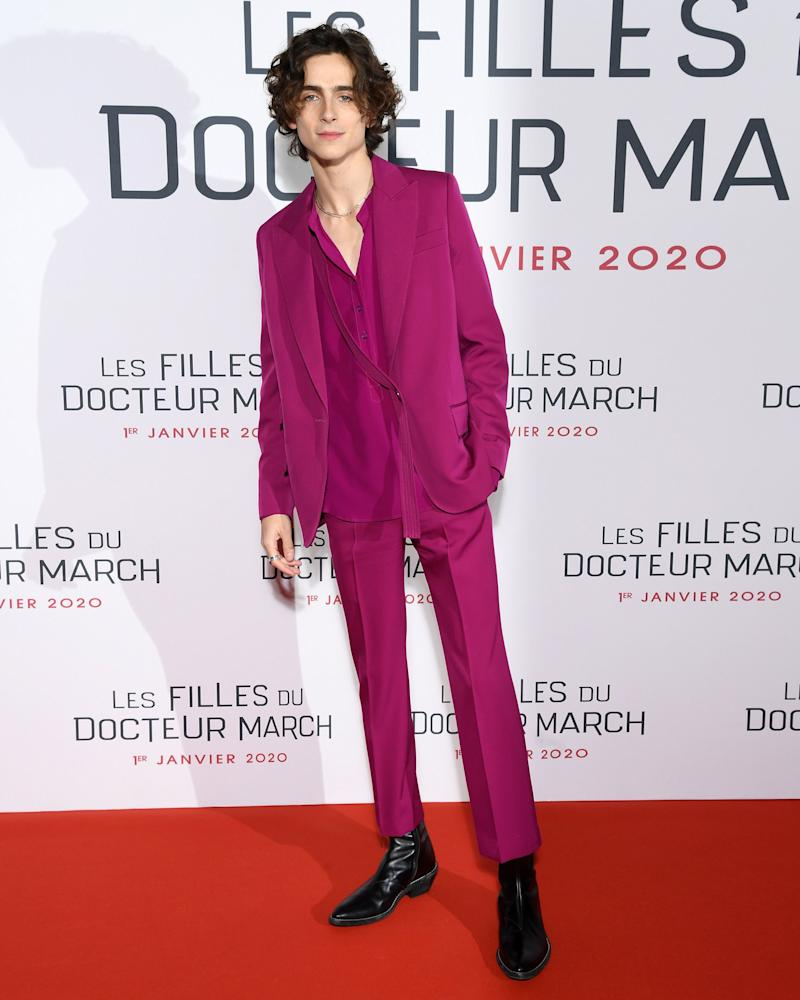 Lessons from Chalamet: A silk shirt makes everything smoother.