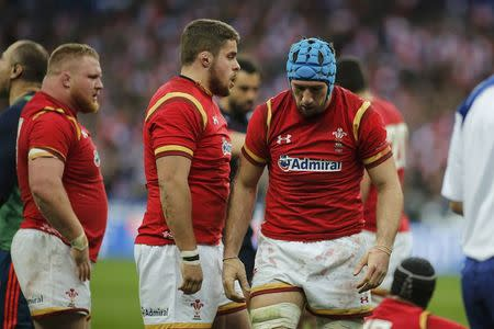 Rugby Union - Six Nations Championship - France v Wales - Stade de France, Saint-Denis near Paris, France - 18/03/2017 - Wales' players react at the end of the match. REUTERS/Benoit Tessier