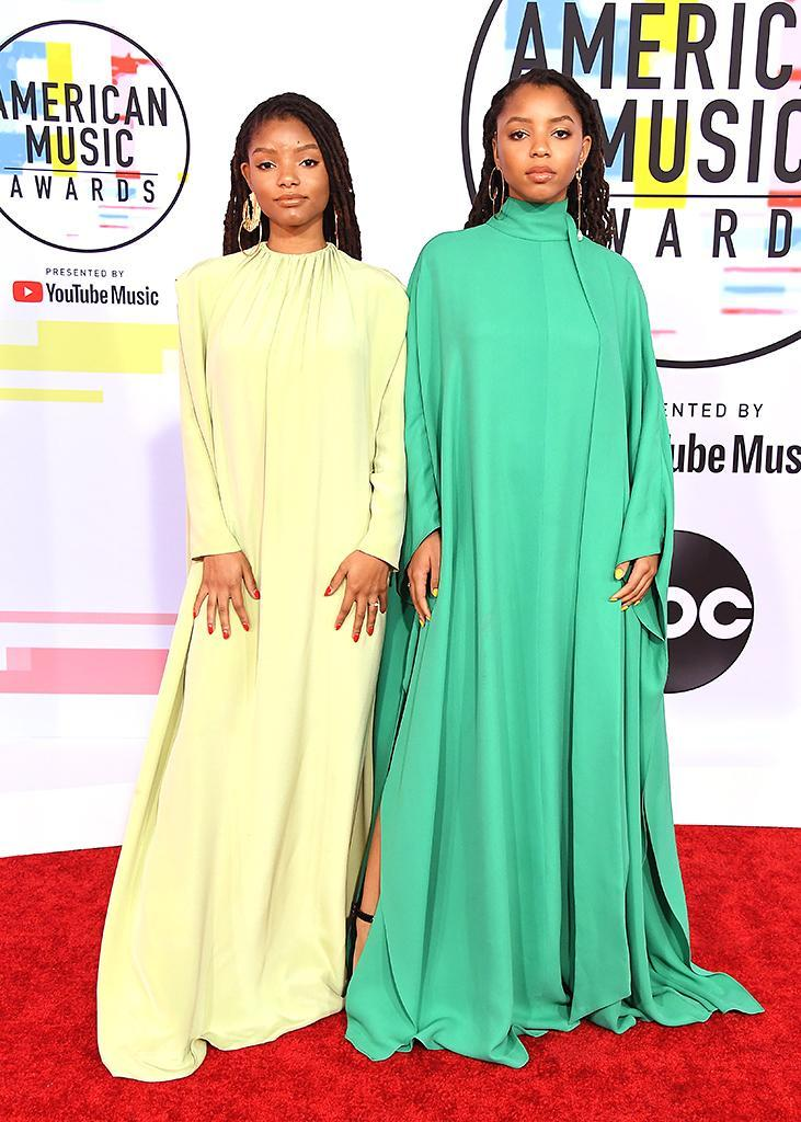 <p>Chloe X Halle attend the 2018 American Music Awards at Microsoft Theater on October 9, 2018 in Los Angeles, California. (Photo: Steve Granitz/WireImage) </p>