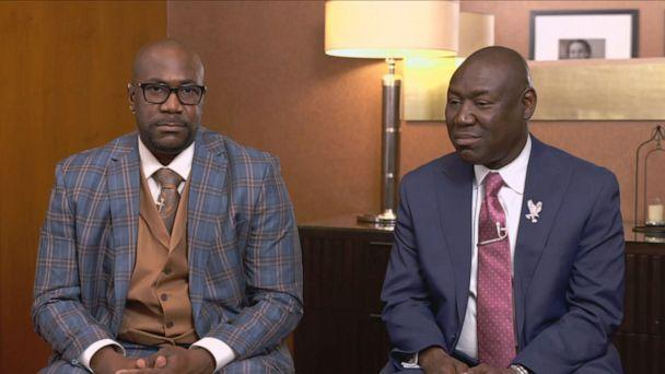 PHOTO: George Floyd's brother Philonise Floyd and Family Attorney, Ben Crump speak to 'Good Morning America,' April 21, 2021. (ABC News)