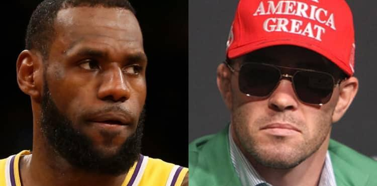 LeBron James and Colby Covington