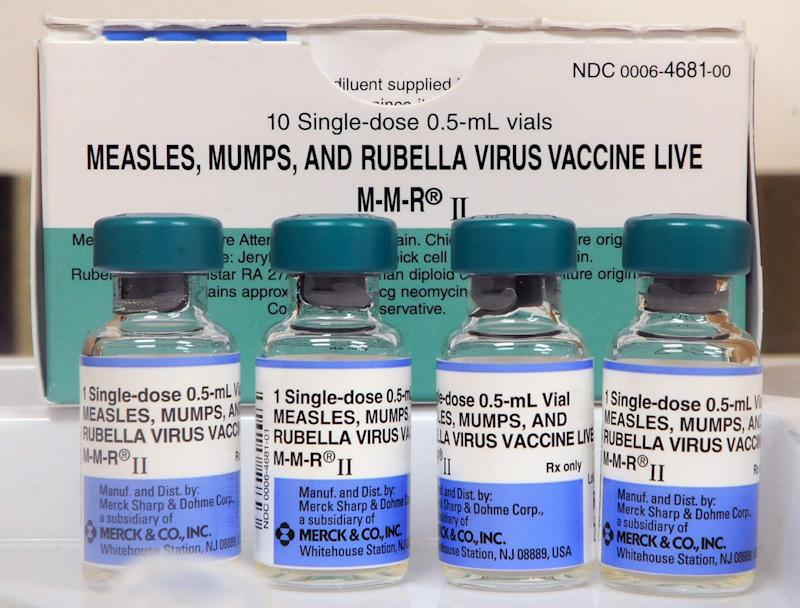 Vials of measles vaccine are seen at the Orange County Health Department on May 6, 2019 in Orlando, Florida. According to the Centers for Disease Control and Prevention, the number of measles cases in the United States as of May 6, 2019 has climbed to 764 in 23 states, with 60 new cases reported in the past week, breaking recent records. (Photo by Paul Hennessy/NurPhoto via Getty Images)
