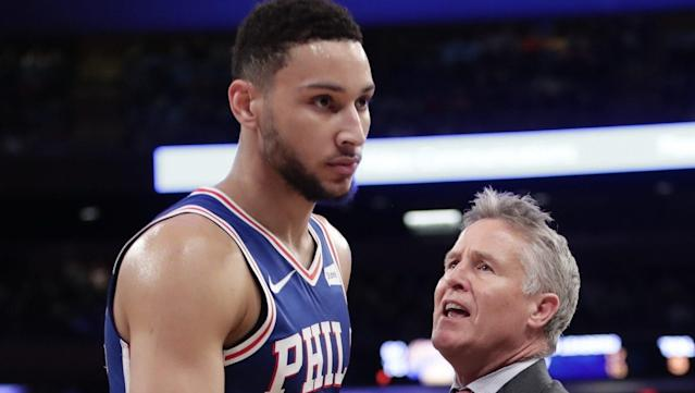 After the game, Brett Brown said Simmons could play some four down the line. Wait, what?