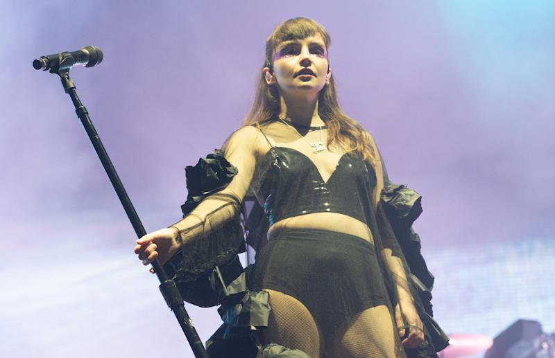 "Lauren Mayberry defended her ""revealing"" gig attire in a candid post [Photo: Getty]"