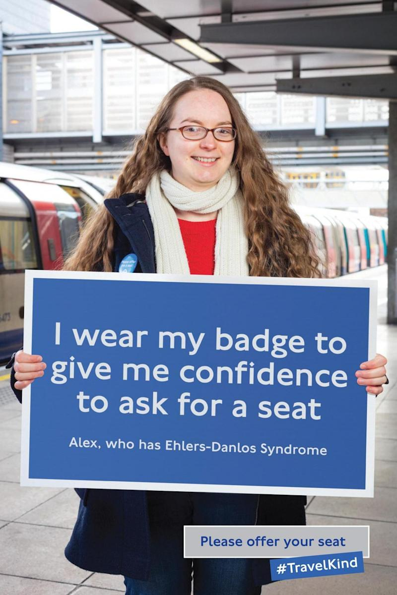 Dr Lee was featured in Transport for London's 'Priority Seating Week' campaign (Transport for London)