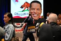 Larry Elder was the leading candidate in the effort to unseat Newsom (AFP/Robyn Beck)