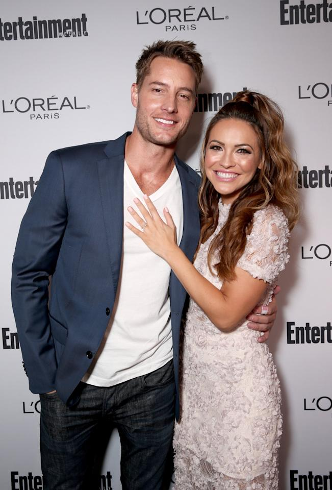 <p>The couple were all smiles at <strong>Entertainment Weekly</strong>'s pre-Emmys bash in LA. </p>