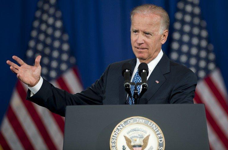 US Vice President Joe Biden speaks at George Washington University in Washington, DC, July 18, 2013