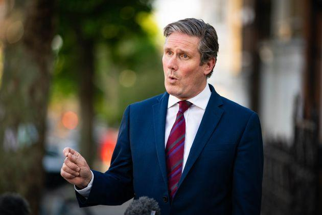 """Labour Party leader Keir Starmer accused the prime minister of """"winging it"""" over the easing of the lockdown restrictions."""