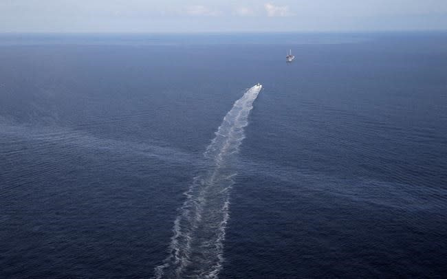 Oil sheen 'barely visible' at site of 14-year-old Gulf leak
