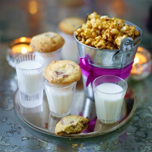 """<p>Chewy and certainly chocolatey, these nostalgic treats are sure to bring a smile to guests' faces.<br><br><strong>Recipe:</strong> <a href=""""https://www.goodhousekeeping.com/uk/food/recipes/cookies-and-milk"""" rel=""""nofollow noopener"""" target=""""_blank"""" data-ylk=""""slk:Cookies and milk"""" class=""""link rapid-noclick-resp"""">Cookies and milk </a> </p>"""