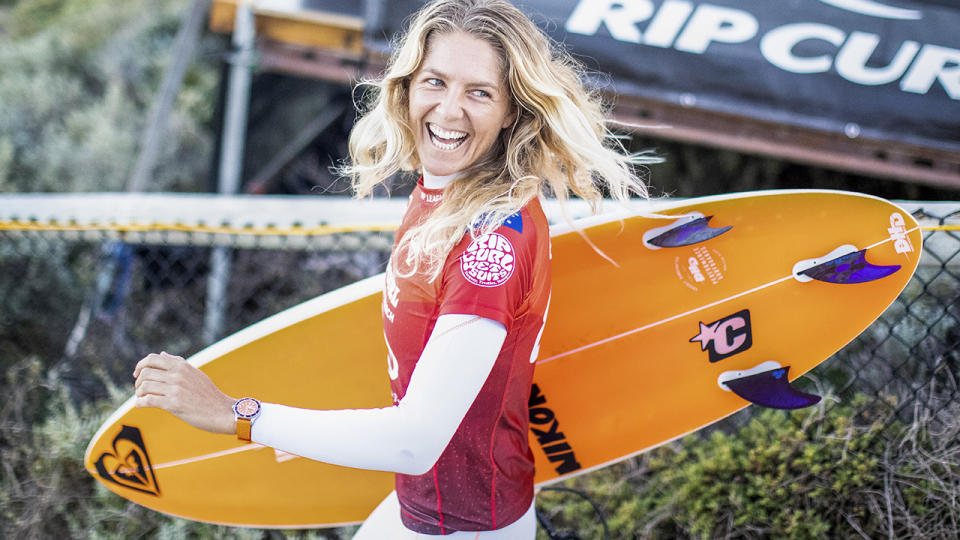 Stephanie Gilmore, pictured here in action at the Rip Curl Rottnest Search.