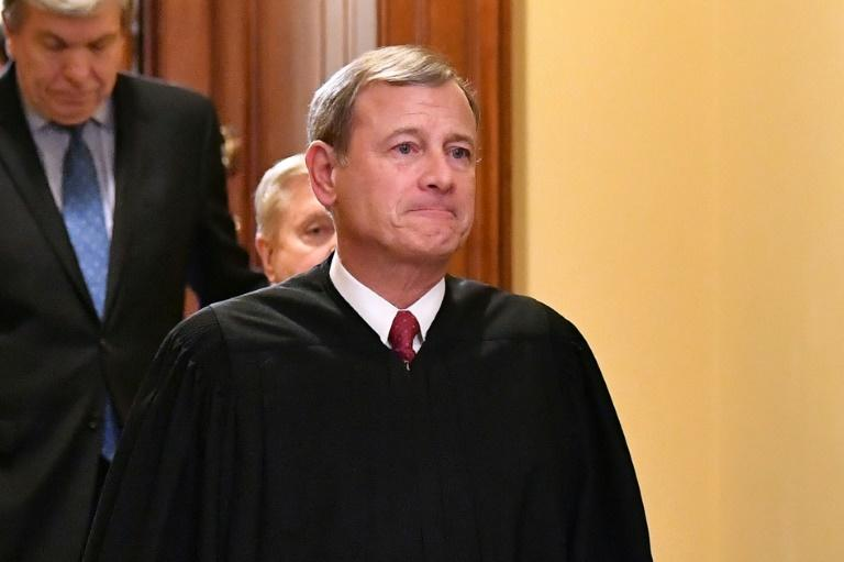 US Supreme Court Chief Justice John Roberts has been a key vote in several recent decisions that went against the White House (AFP Photo/Mandel NGAN)