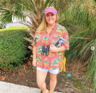 """<p>Chances are you can find most of this ensemble right in your own closet: jean shorts, a Hawaiian shirt, and a visor. (It doesn't all have to match—in fact, better if it doesn't.) </p><p><a class=""""link rapid-noclick-resp"""" href=""""https://www.instagram.com/p/B34Lbl8A2tR/"""" rel=""""nofollow noopener"""" target=""""_blank"""" data-ylk=""""slk:SEE MORE"""">SEE MORE</a></p><p><a class=""""link rapid-noclick-resp"""" href=""""https://www.amazon.com/King-Kameha-Shortsleeve-Pineapple-Turquoise/dp/B07B4BM2FD?tag=syn-yahoo-20&ascsubtag=%5Bartid%7C10072.g.33547559%5Bsrc%7Cyahoo-us"""" rel=""""nofollow noopener"""" target=""""_blank"""" data-ylk=""""slk:SHOP HAWAIIAN SHIRT"""">SHOP HAWAIIAN SHIRT</a></p>"""