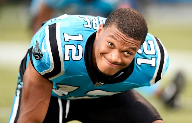 What if the Panthers' DJ Moore had gone one pick earlier to the New England Patriots? (AP Photo)