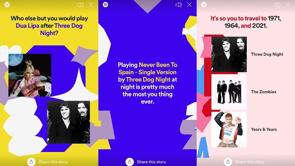 A breakdown of Spotify's Only You feature.
