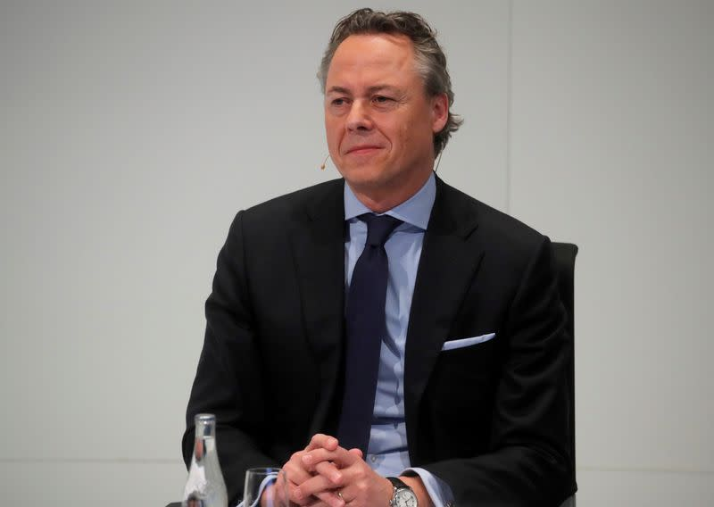 FILE PHOTO: Designated new CEO Hamers of Swiss bank UBS attends a news conference in Zurich