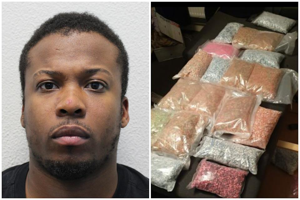 Patrick Scotland pleaded guilty to drug offences following the largest haul of MDMA and crystal meth from a British home. (Met Police)