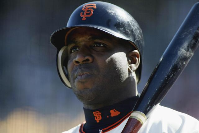 Barry Bonds in 2002. (Photo by Jed Jacobsohn/Getty Images)
