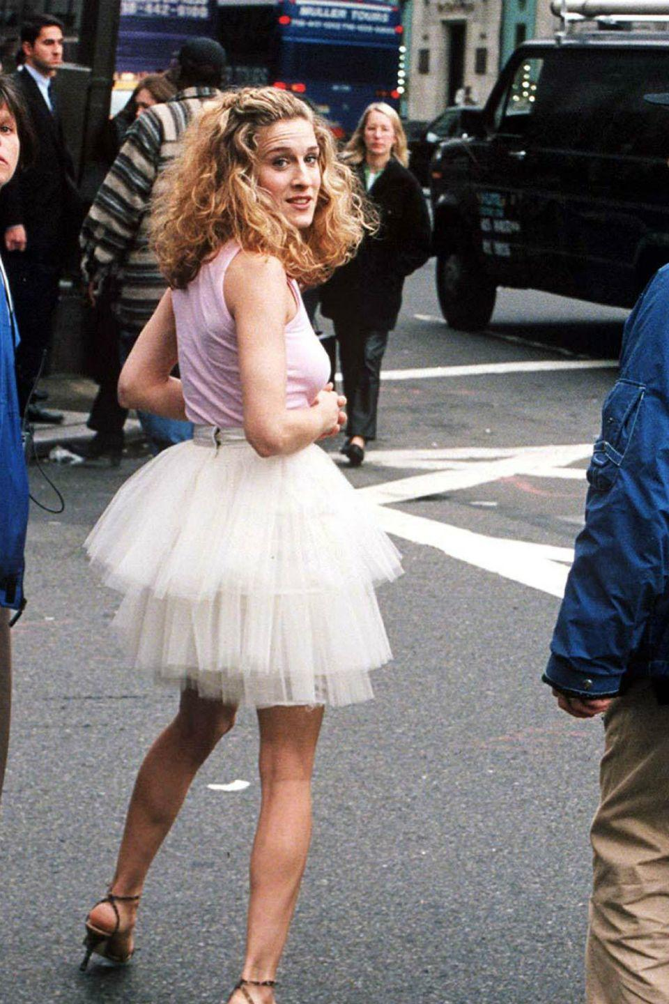 """<p>Get ahead of the up-and-coming reboot of every fashion lover's favorite series by dressing the part. Carrie Bradshaw would be seen running from event to event in Manolos and a tulle skirt. Stealing her look will make for a stylish moment.</p><p><strong>Get the look: Rodarte </strong>tiered polka-dot tulle skirt, $858, <a href=""""https://go.redirectingat.com?id=74968X1596630&url=https%3A%2F%2Fwww.matchesfashion.com%2Fproducts%2F1342477&sref=https%3A%2F%2Fwww.harpersbazaar.com%2Ffashion%2Ftrends%2Fg2339%2Ffashionable-halloween-costume-ideas%2F"""" rel=""""nofollow noopener"""" target=""""_blank"""" data-ylk=""""slk:matchesfashion.com"""" class=""""link rapid-noclick-resp"""">matchesfashion.com</a>.</p><p><a class=""""link rapid-noclick-resp"""" href=""""https://go.redirectingat.com?id=74968X1596630&url=https%3A%2F%2Fwww.matchesfashion.com%2Fproducts%2F1342477%3Fcountry%3DUSA%26rffrid%3Dsem.Google.n%253Dg.cid%253D1775457755.aid%253D108882507812.k%253D.mty%253D.d%253Dc.adp%253D.cr%253D445281154933.tid%253Daud-810038201662%253Apla-293946777986.pid%253D1342477000003.ppid%253D293946777986.lpm%253D9016785.adty%253Dpla.prl%253Den%26gclid%3DCj0KCQjw5uWGBhCTARIsAL70sLID5T5Z81mMYAlVVVg0yXqCpsdymSoAwyvSMSfnpJVwObK23aJ0uTsaAvVlEALw_wcB%26gclsrc%3Daw.ds&sref=https%3A%2F%2Fwww.harpersbazaar.com%2Ffashion%2Ftrends%2Fg2339%2Ffashionable-halloween-costume-ideas%2F"""" rel=""""nofollow noopener"""" target=""""_blank"""" data-ylk=""""slk:SHOP"""">SHOP</a> <br></p>"""