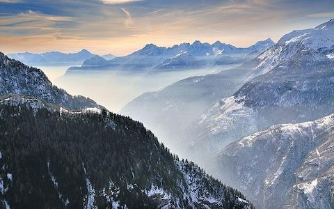 Maedsimo mountains at sunset