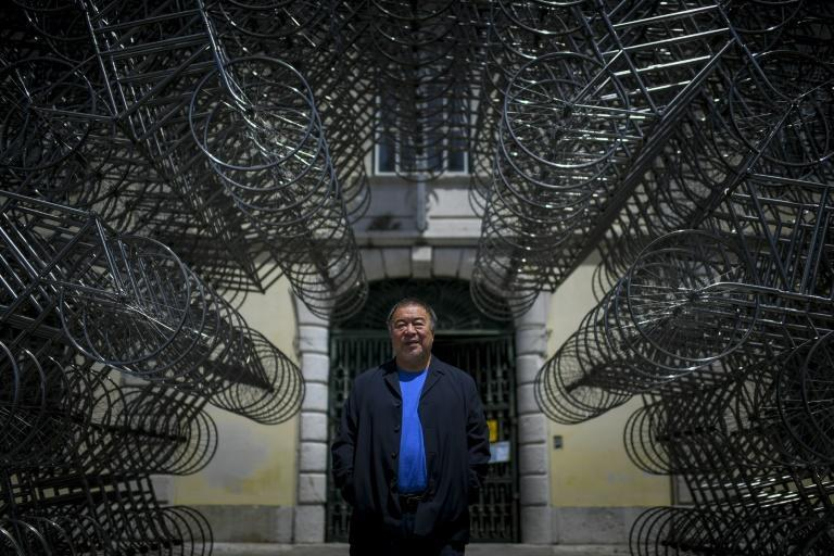 Ai's giant installation 'Forever Bicycles' kicks off the exhibition