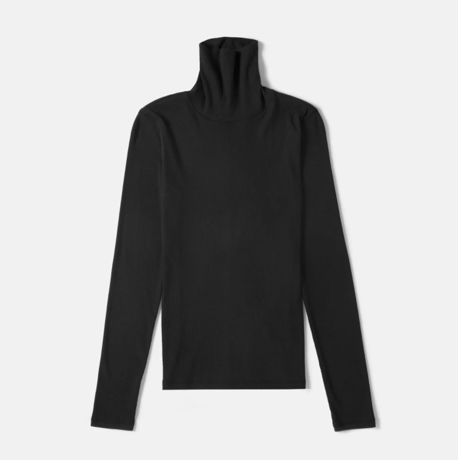 "<br><br><strong>Everlane</strong> The Pima Micro-Rib Turtleneck, $, available at <a href=""https://www.everlane.com/products/womens-pima-micro-rib-turtleneck-black?locale=GB&utm_medium=cpc&utm_source=pla-google&utm_campaign=9850559727&utm_content=431545389559&utm_term=pla-293946777986&adgroup=98427411977&pid=3919-19632&device=c&gclid=Cj0KCQiA4feBBhC9ARIsABp_nbWt-8cMR3LZiUBAbnMZUl1lccNNw1BOZnYpy47ZavDE6NLZWQuX3xwaAub-EALw_wcB"" rel=""nofollow noopener"" target=""_blank"" data-ylk=""slk:Everlane"" class=""link rapid-noclick-resp"">Everlane</a>"