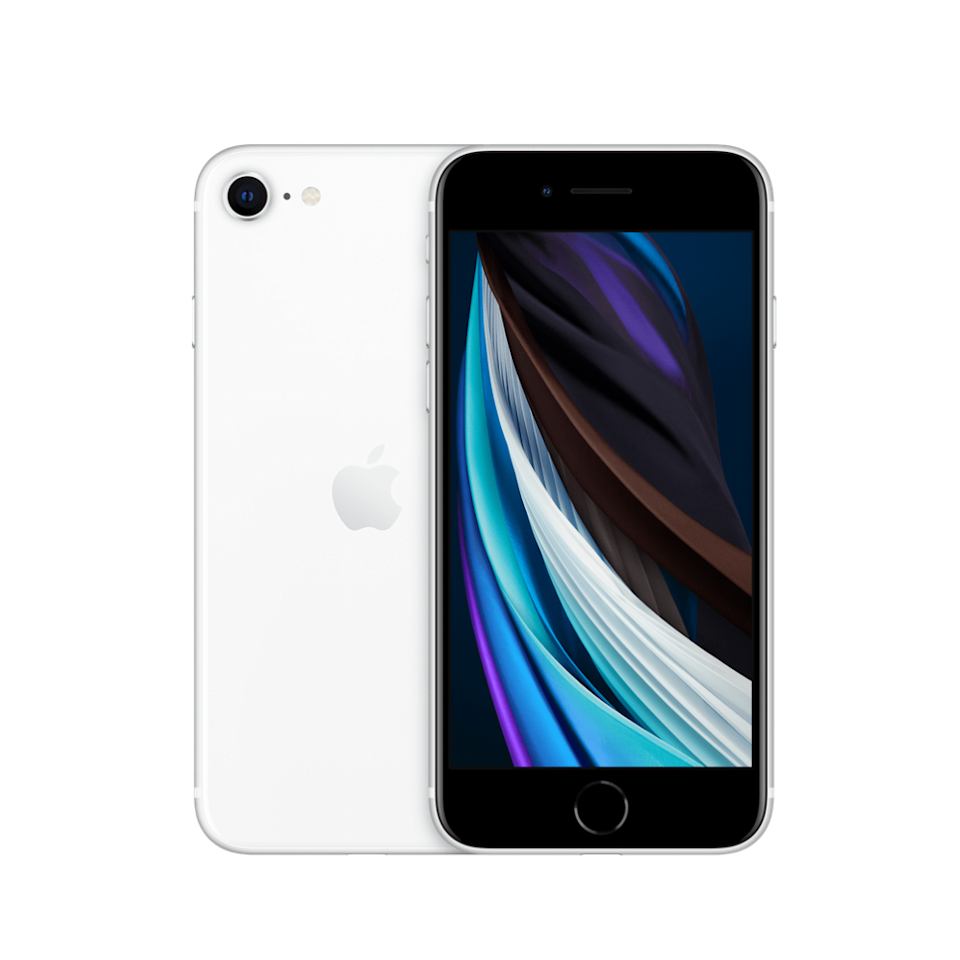 iPhone SE in White. Image courtesy of Apple.