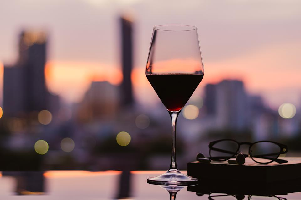A glass of wine after a long day melts the stress away.