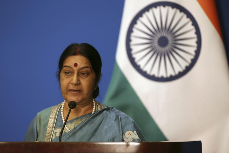 Here's what Sushma Swaraj told Rajya Sabha on Kulbhushan Yadhav's death sentence
