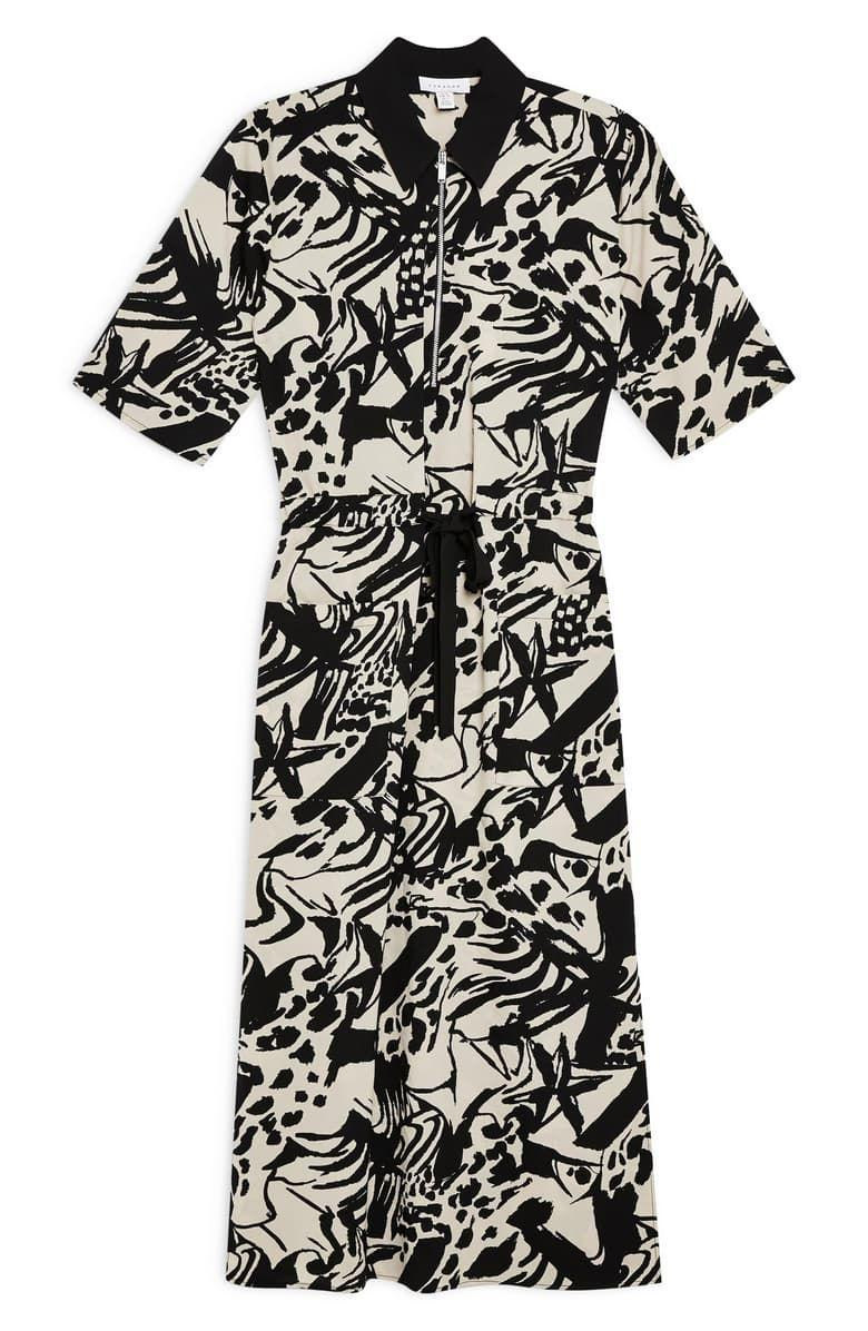 """<p><strong>Topshop</strong></p><p>nordstrom.com</p><p><strong>$47.50</strong></p><p><a href=""""https://go.redirectingat.com?id=74968X1596630&url=https%3A%2F%2Fshop.nordstrom.com%2Fs%2Ftopshop-front-zip-midi-shirtdress-petite%2F5302162&sref=http%3A%2F%2Fwww.townandcountrymag.com%2Fstyle%2Ffashion-trends%2Fg26522706%2Fbest-dresses-for-older-women%2F"""" rel=""""nofollow noopener"""" target=""""_blank"""" data-ylk=""""slk:Shop Now"""" class=""""link rapid-noclick-resp"""">Shop Now</a></p><p>This black and white number is as effortlessly chic as a classic shirtdress, but the patterned detailing and contrasting collar give it extra style points. </p>"""