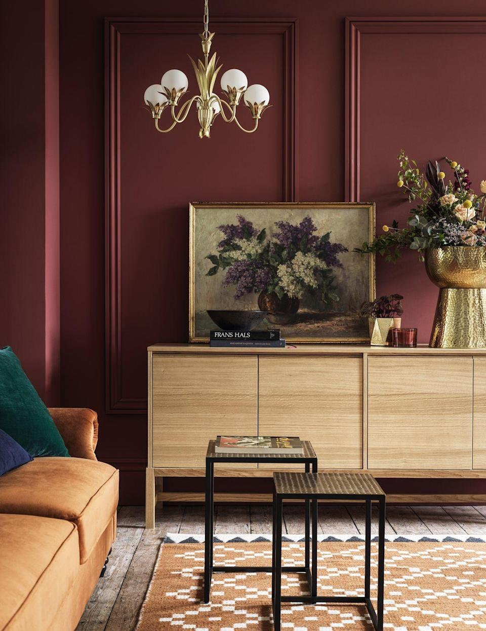 """<p>Evoking an effortless eclecticism, this trend beautifully combines rich velvets with brass, woven rugs, bleached woods and modern accessories. Whether you're on the hunt for a sofa bed or luscious layers to bring warmth in winter, the whole collection feels just wonderful. <strong><br></strong></p><p><strong>READ MORE</strong>: <a href=""""https://www.housebeautiful.com/uk/decorate/living-room/g30980928/small-living-room-ideas/"""" rel=""""nofollow noopener"""" target=""""_blank"""" data-ylk=""""slk:23 small living room ideas to make the most of your space"""" class=""""link rapid-noclick-resp"""">23 small living room ideas to make the most of your space</a></p>"""