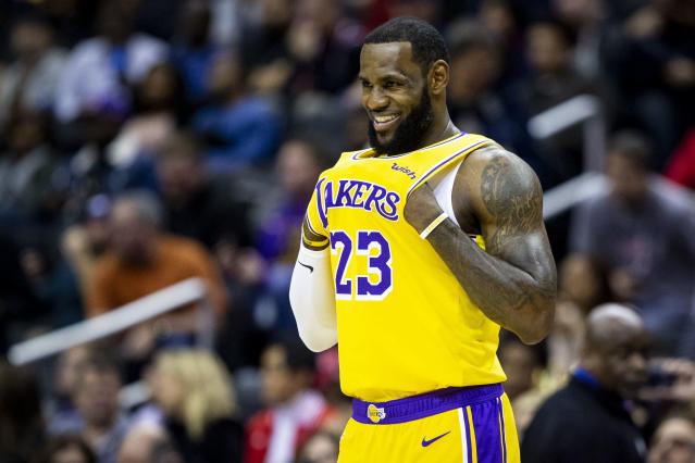LeBron James totally believes in the Lakers going forward. (AP Photo)