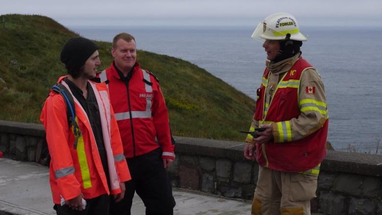 'I've got a few selfies': First time hiker in good spirits after getting stuck on Signal Hill