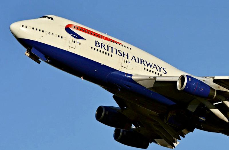 "FILE PHOTO - Stock image of a BA Boeing 747-400. See NATIONAL story NNjumbo. A drunken British Airways passenger will go on trial today at Ealing Magistrates Court today, December 4, 2019. Emma Langford, 47, is alleged to have attacked three cabin crew members on board a BA jumbo jet flight to Cape Town in South Africa when she went on a drunken rampage after being refused a drink. Langford was forcibly restrained in her seat after storming the gallery and smashing crockery when staff refused to serve her booze, an earlier hearing was told. A cabin crew manager claimed that the businesswoman ""smelt of alcohol"" and ""puffed her chest out"" before starting to punch him in the gallery are of the Boeing 747-400. Langford has already admitted charges of being drunk on an aircraft, behaving in a threatening manner towards aircraft crew and criminal damage."