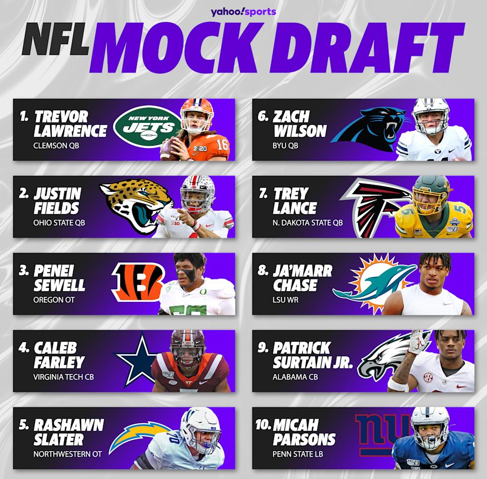 Eric Edholm's mock draft heading into Sunday's Week 15. (Albert Corona/Yahoo Sports)