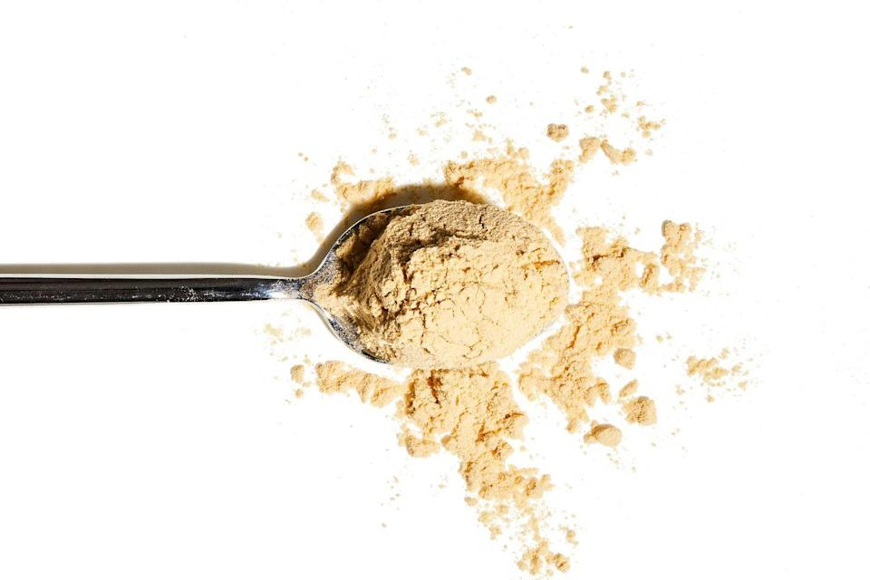 """<p>A common addition to post-gym powders, pea protein is thought to """"increase muscle strength more efficiently than whey"""", according to Chowdhury. """"Plus, research has found that combining pea protein with vitamin C can help to reduce post-training inflammation."""" Not a fan of dairy-free blends? Then try another source of pea protein – er, peas. A cupful contains 8.6g of protein, along with almost 40% of your vitamin C needs and around 9g of fibre.</p>"""