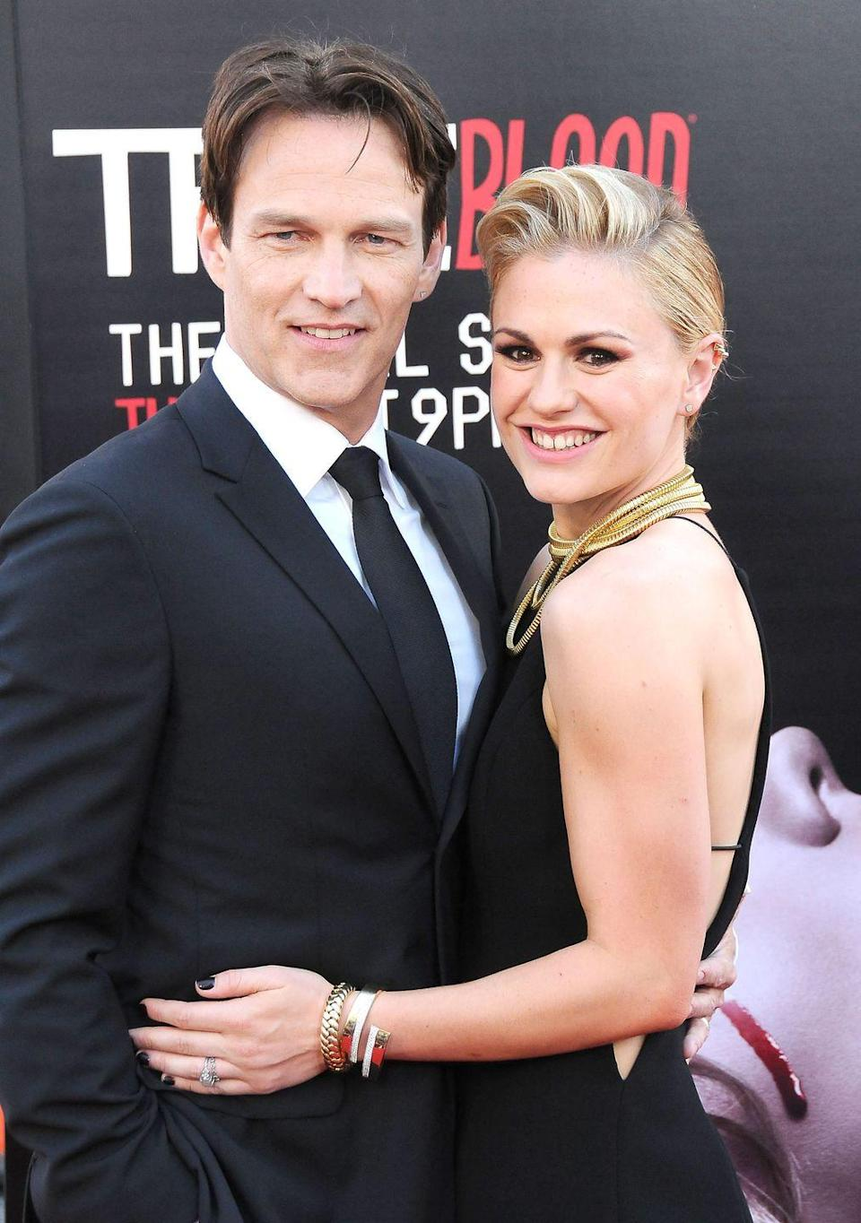 <p><strong>Age gap: </strong>13 years </p><p>For these <em>True Blood </em>costars it really was ~eternal love~. Anna and Stephen began dating during their show's first season in 2008 and got married two years later. They are now parents to twins Charlie and Poppy. </p>