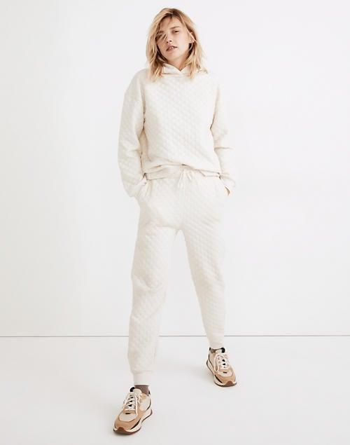 """<br><br><strong>Madewell</strong> (Re)sourced Quilted Jogger Sweatpants, $, available at <a href=""""https://go.skimresources.com/?id=30283X879131&url=https%3A%2F%2Fwww.madewell.com%2F%2528re%2529sourced-quilted-jogger-sweatpants-NB510.html%3Fcolor%3DNA6817"""" rel=""""nofollow noopener"""" target=""""_blank"""" data-ylk=""""slk:Madewell"""" class=""""link rapid-noclick-resp"""">Madewell</a>"""