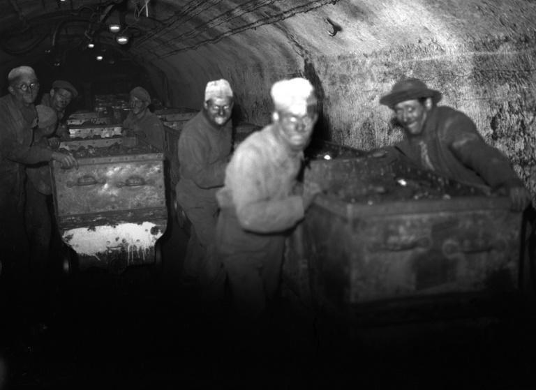 An undated picture of a coal mine in Lens, northern France