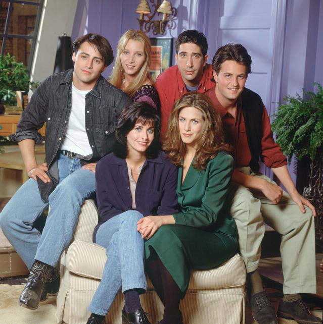 Celebrate the Friends anniversary by stocking up on every episode. (Photo: NBCU Photobook)