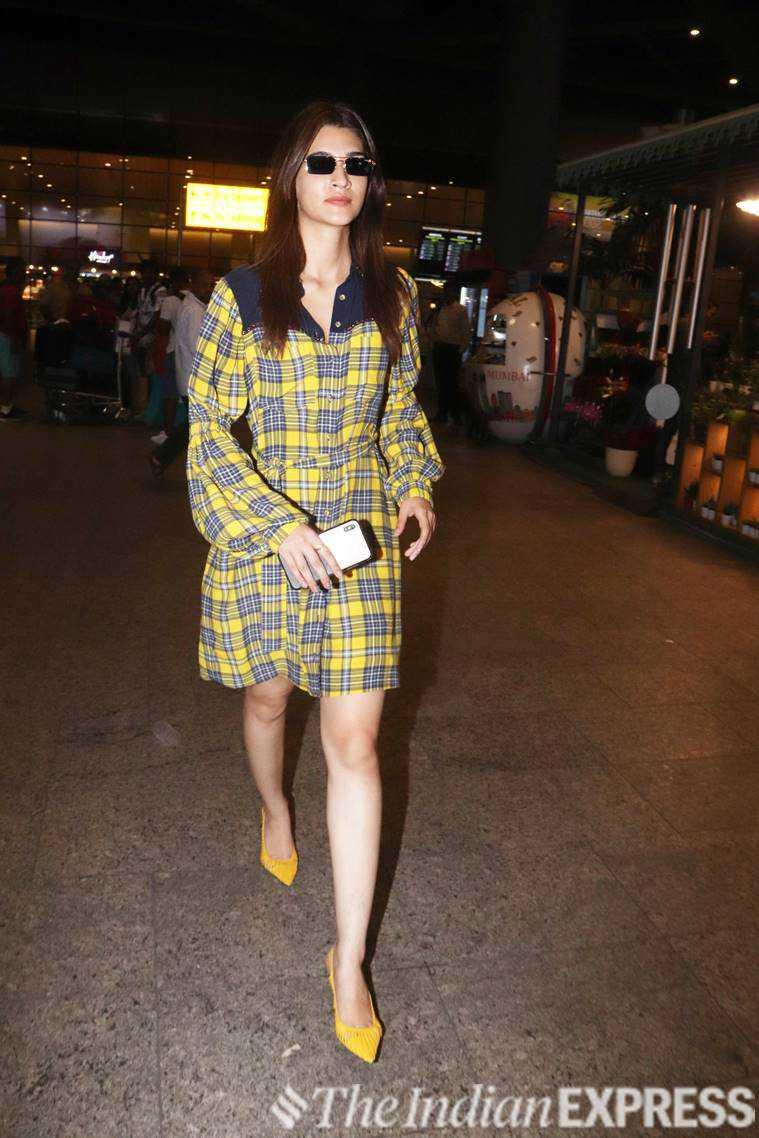Kriti Sanon, Kriti Sanon fashion, Kriti Sanon looks, airport fashion, indian express