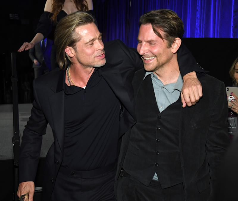 NEW YORK, NEW YORK - JANUARY 08: Brad Pitt and Bradley Cooper attend The National Board of Review Annual Awards Gala at Cipriani 42nd Street on January 08, 2020 in New York City. (Photo by Kevin Mazur/Getty Images for National Board of Review)