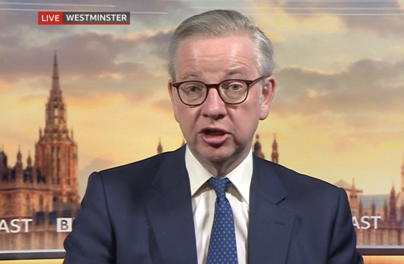 Michael Gove said customers need to 'exercise restraint' when shops reopen next month. (BBC)