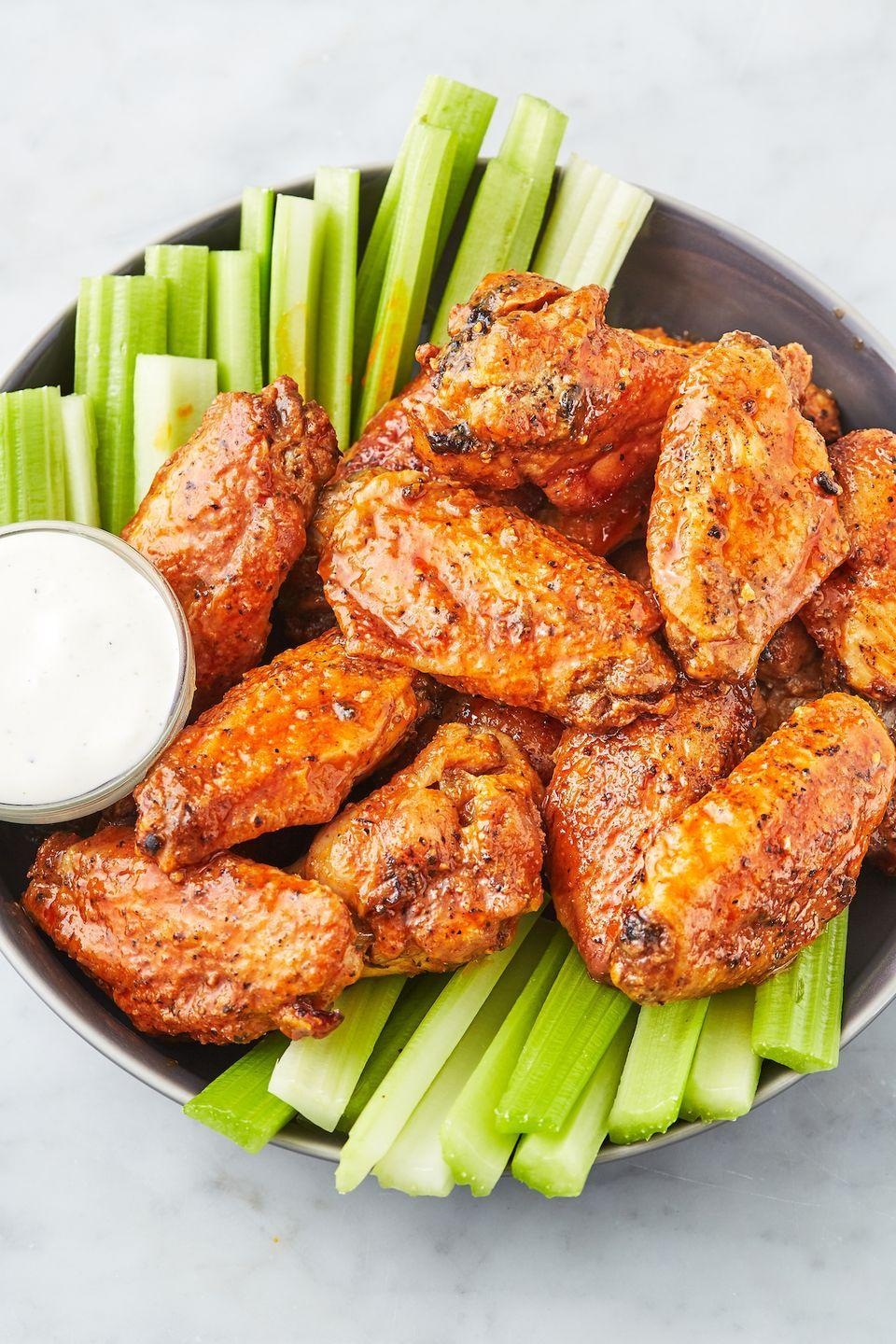 """<p>Need crispy wings stat? Your air fryer makes it almost too easy. </p><p>Get the recipe from <a href=""""https://www.delish.com/cooking/recipe-ideas/a27169627/air-fryer-chicken-wings-recipe/"""" rel=""""nofollow noopener"""" target=""""_blank"""" data-ylk=""""slk:Delish"""" class=""""link rapid-noclick-resp"""">Delish</a>. </p>"""