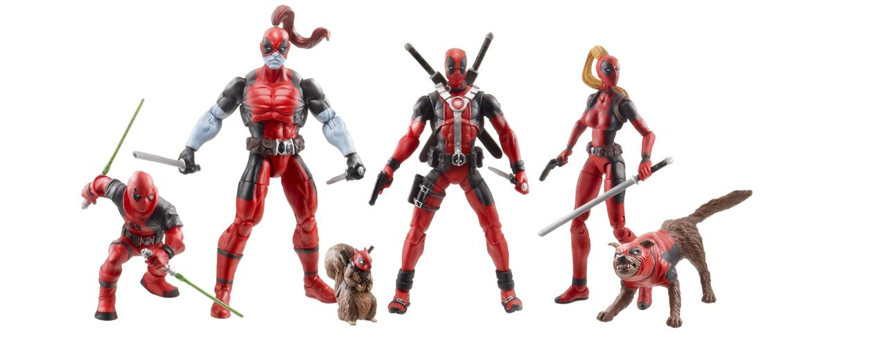 "<b>Marvel Universe 3.75-Inch Deadpool Corps Special Edition Figure Set packaged in individual ""taco shells,"" all inside a collectible taco truck</b> <br />Hasbro"