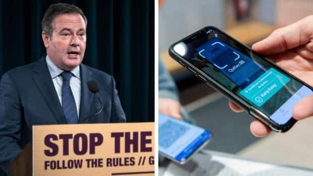 Instead of a passport system that would introduce more hurdles for Alberta's unvaccinated population, Premier Jason Kenney announced Friday the government would offer a $100 incentive to encourage people to get their outstanding shots. (Andrew Peloso, Graham Hughes - image credit)