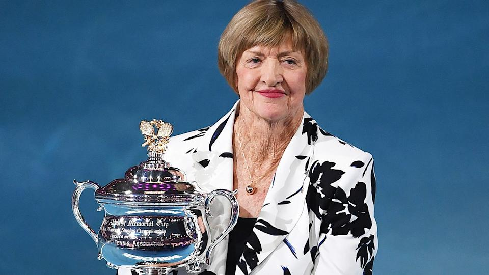 A third recipient of the Order of Australia has rebuffed the award in protest over Margaret Court's continued recognition by the committee. (Photo by GREG WOOD/AFP via Getty Images)