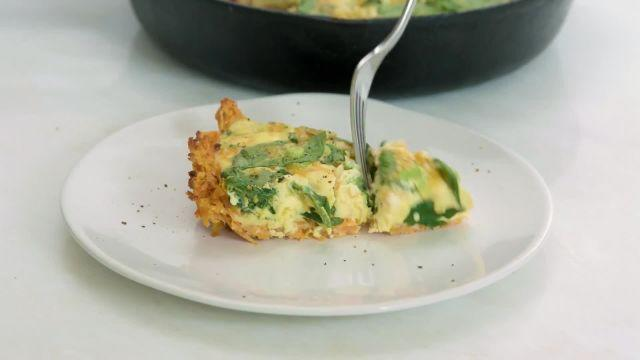 High-protein and full of veggies, this quiche is great for brunch, or reheated as leftovers.
