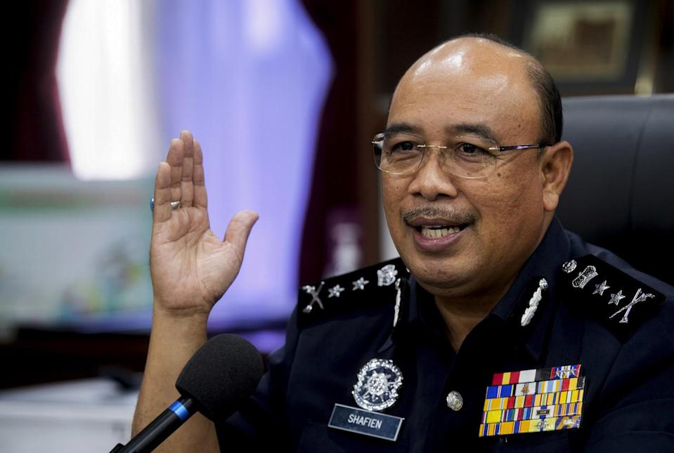 Shafien said that all the suspects were remanded for seven days. — Bernama pic